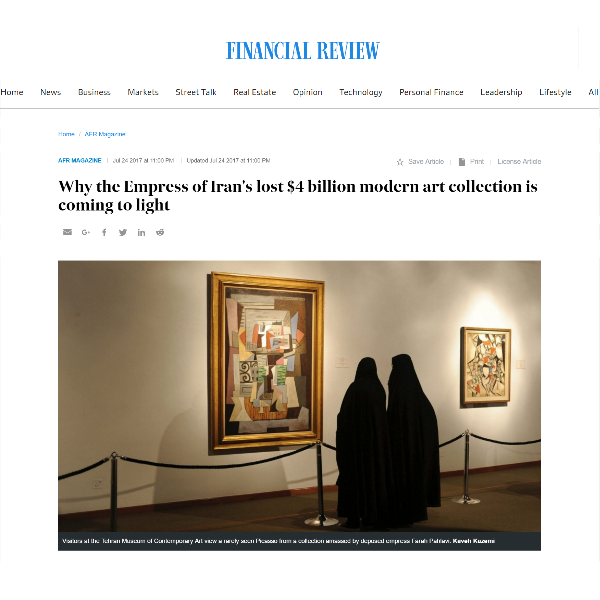 The Empress of Iran's lost $4 billion modern art collection