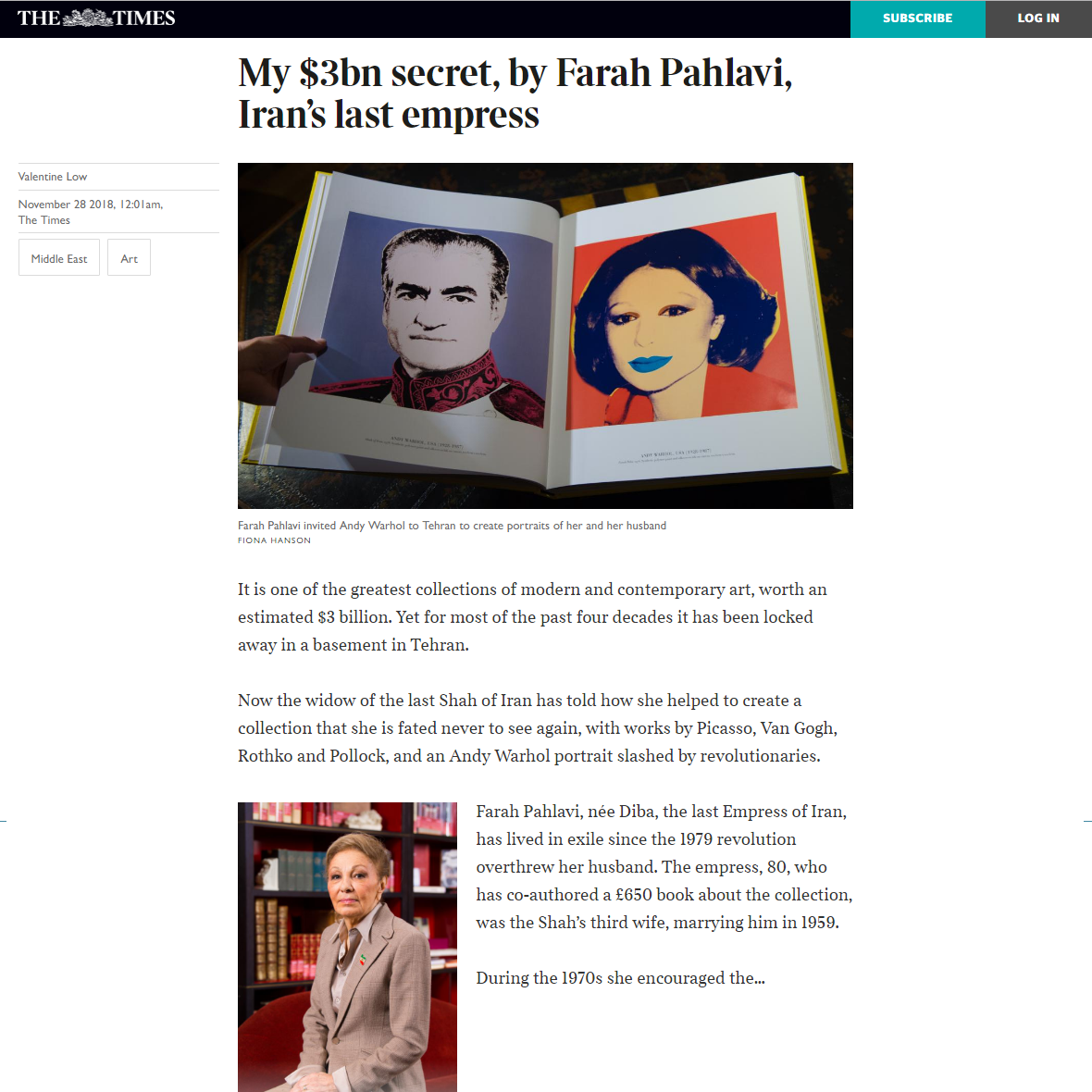 My $3bn Secret, By Farah Pahlavi, Iran's Last Empress